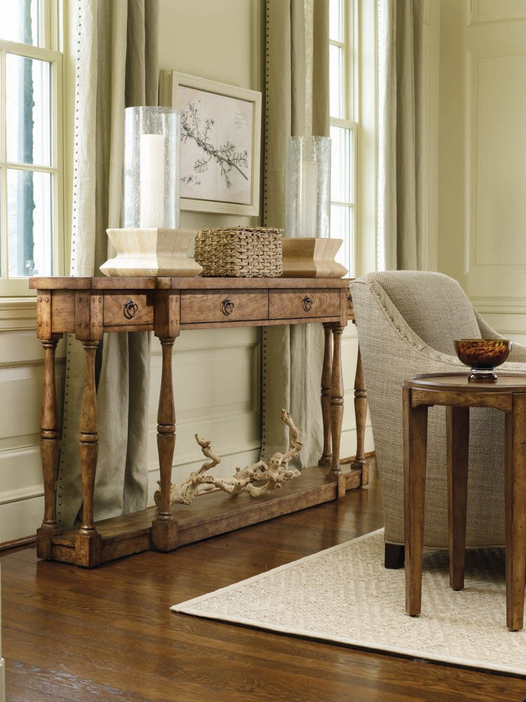 Amazon.com: Hooker Furniture Sanctuary Four Drawer Thin Console In Drift:  Kitchen U0026 Dining