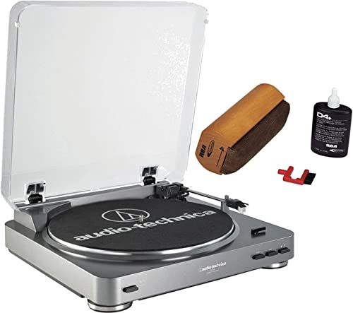 Audio-Technica AT-LP60-USB Automatic Turntable Silver Discwasher RD-1006 Record Cleaning System