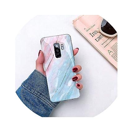 Amazon.com: Moda mármol Carcasa para Samsung S7 S8 S9Plus ...