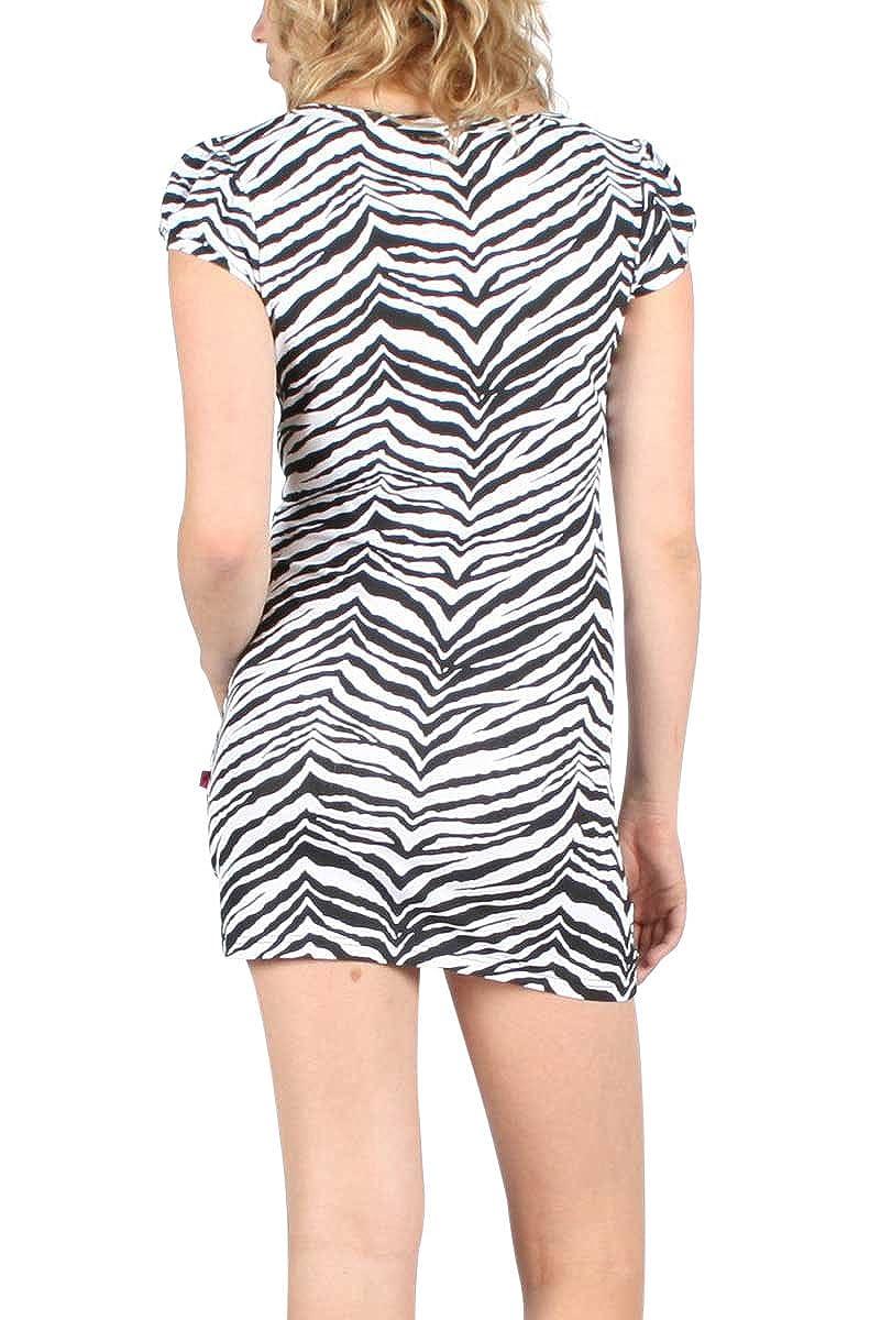 Tripp NYC Tunic Dress in White//Black//Zebra