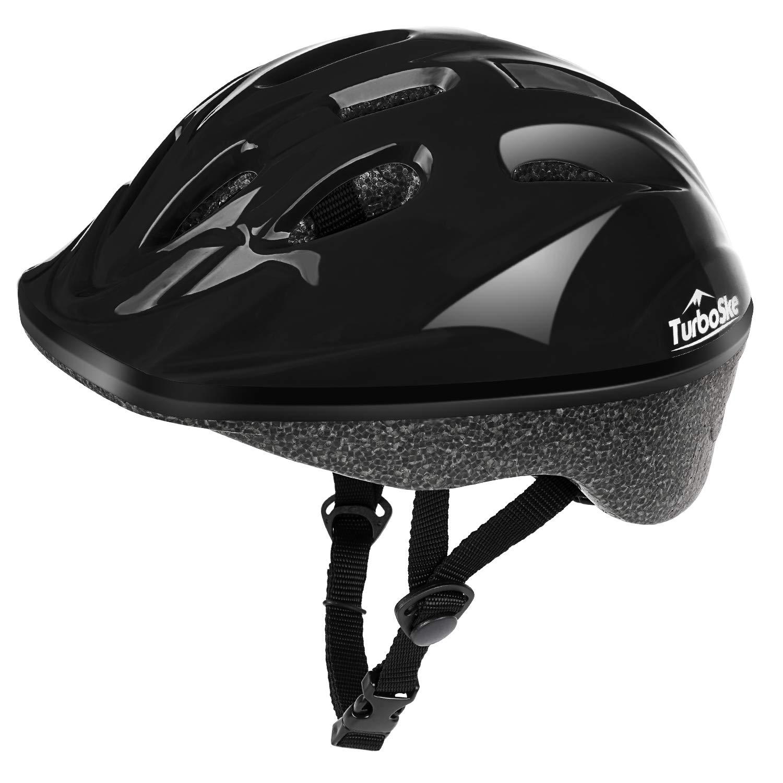 TurboSke Child Helmet, Kid's Multi-Sport Helmet (Jet Black)