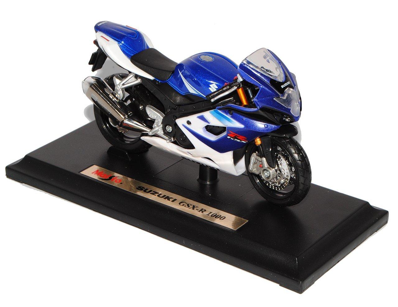 Suzuki Gsx R 1000 R1000 Blau 1 18 Maisto Modellmotorrad Modell Motorrad Amazoncouk Toys Games
