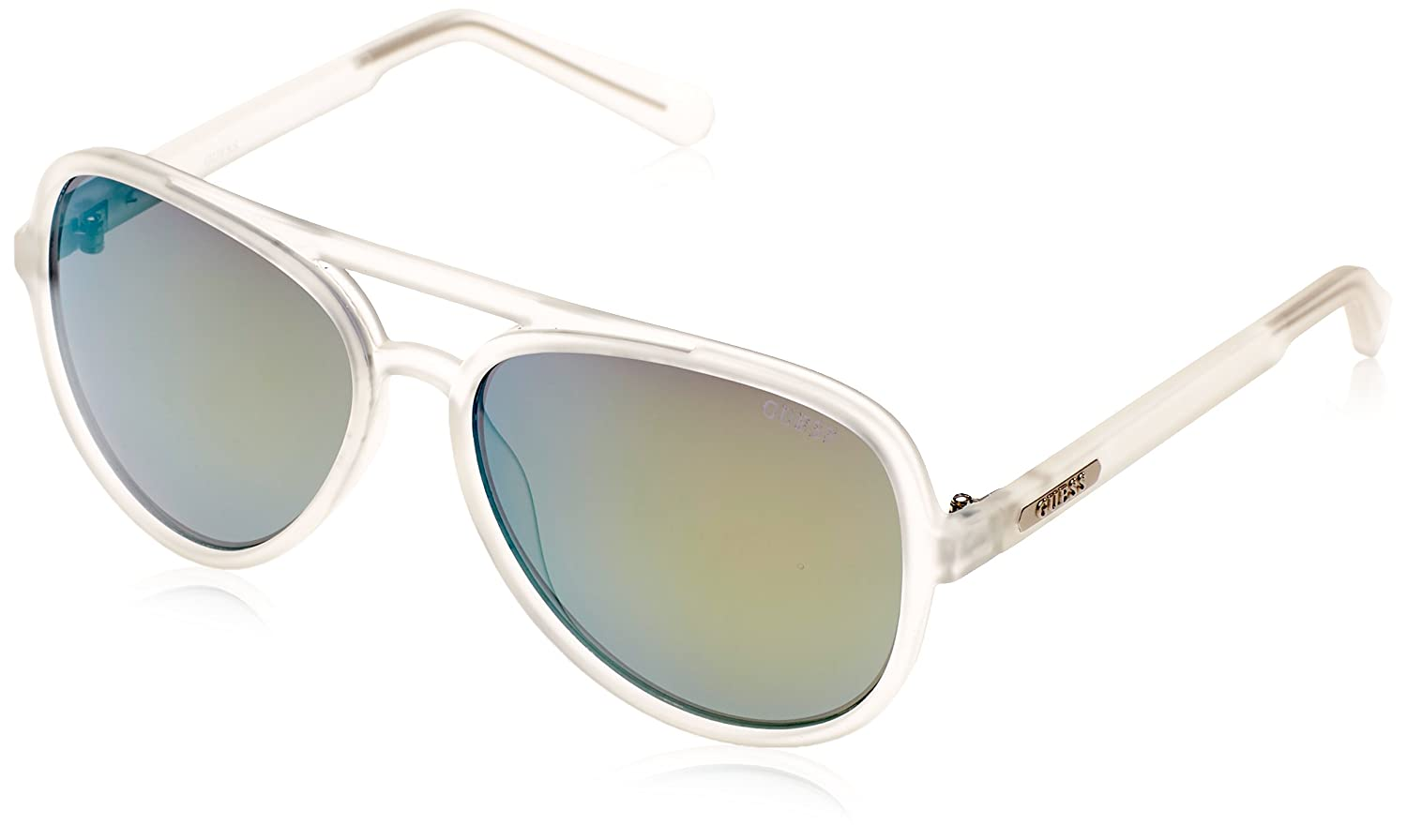 Amazon.com: Guess Mirrored gu0150 – 26Q Blanco Aviator ...