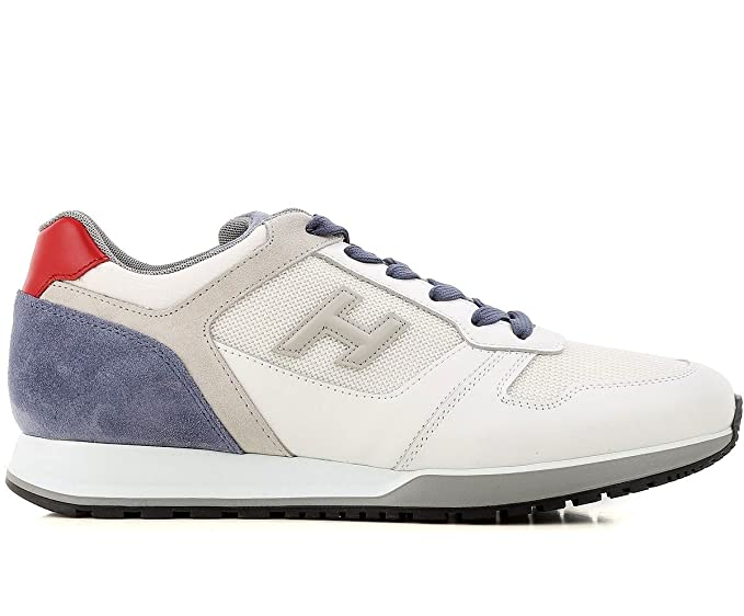 Image Unavailable. Image not available for. Colour  Hogan Sneakers Uomo  H321 In Camoscio Tessuto e Pelle MOD. HXM3210Y851II7940F Bianco ... a9b9e8a3118