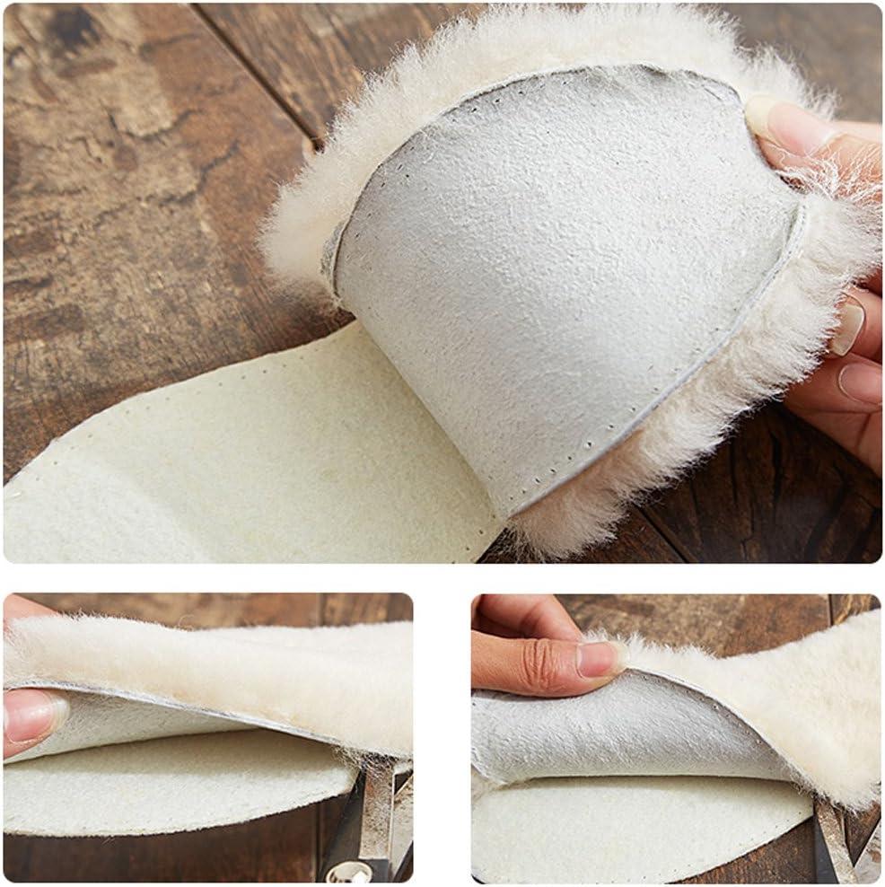 Color Aleatorio Happyyami 3 Pares Plantillas De Piel De Oveja Plantillas De Zapatos De Lana S/úPer Gruesa Plantillas de Zapatos C/álidos Para Invierno