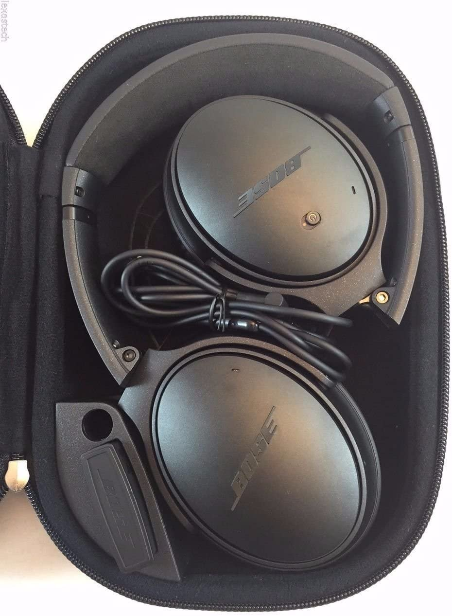 Bose QuietComfort 25 Acoustic Noise Cancelling Headphones for Apple Devices, Triple Black wired, 3.5mm