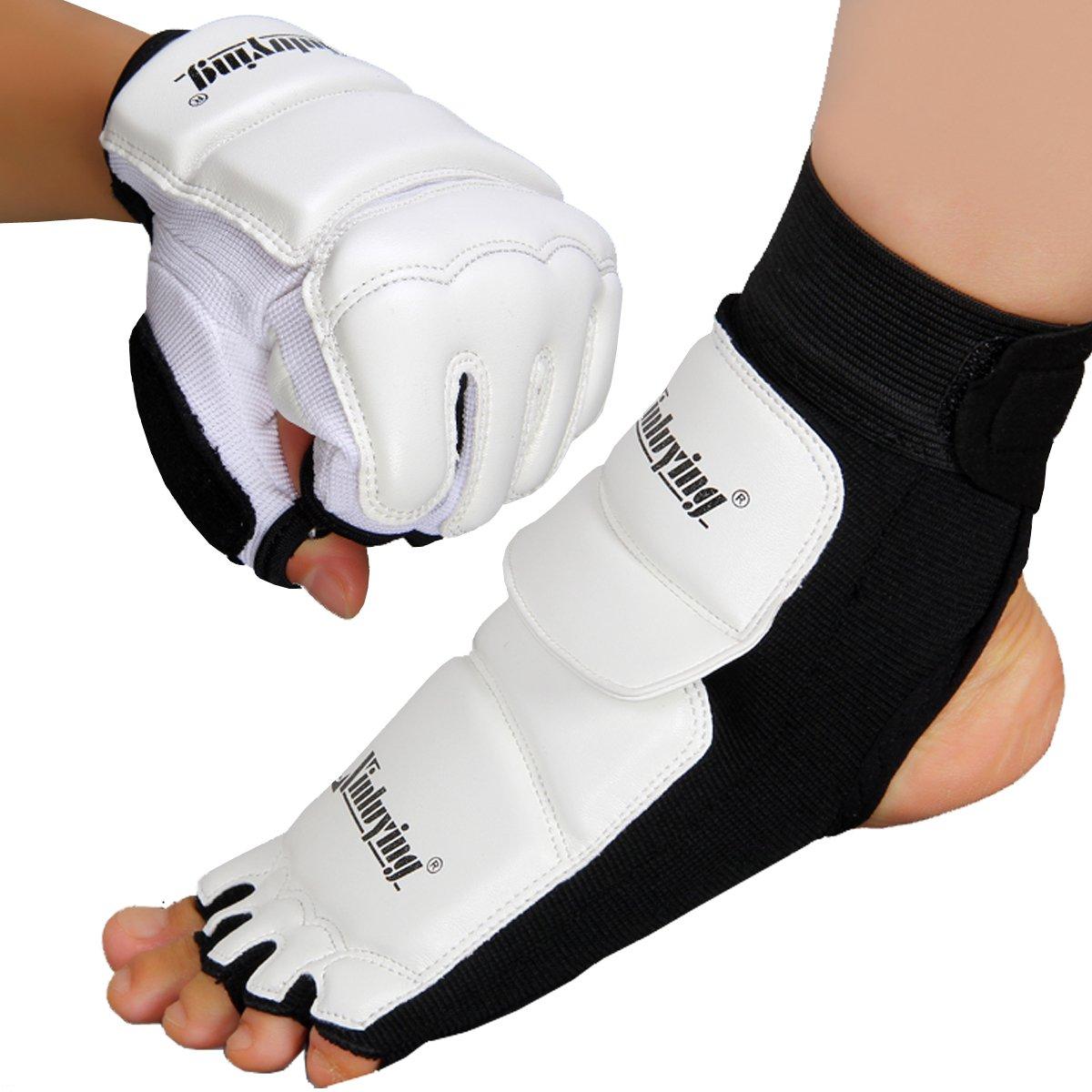 Xinluying MMA Fußschützer Knöchelschoner Kickboxen Kampfsport Taekwondo Sparring Boxsack Training Pads Kinder Herren Damen