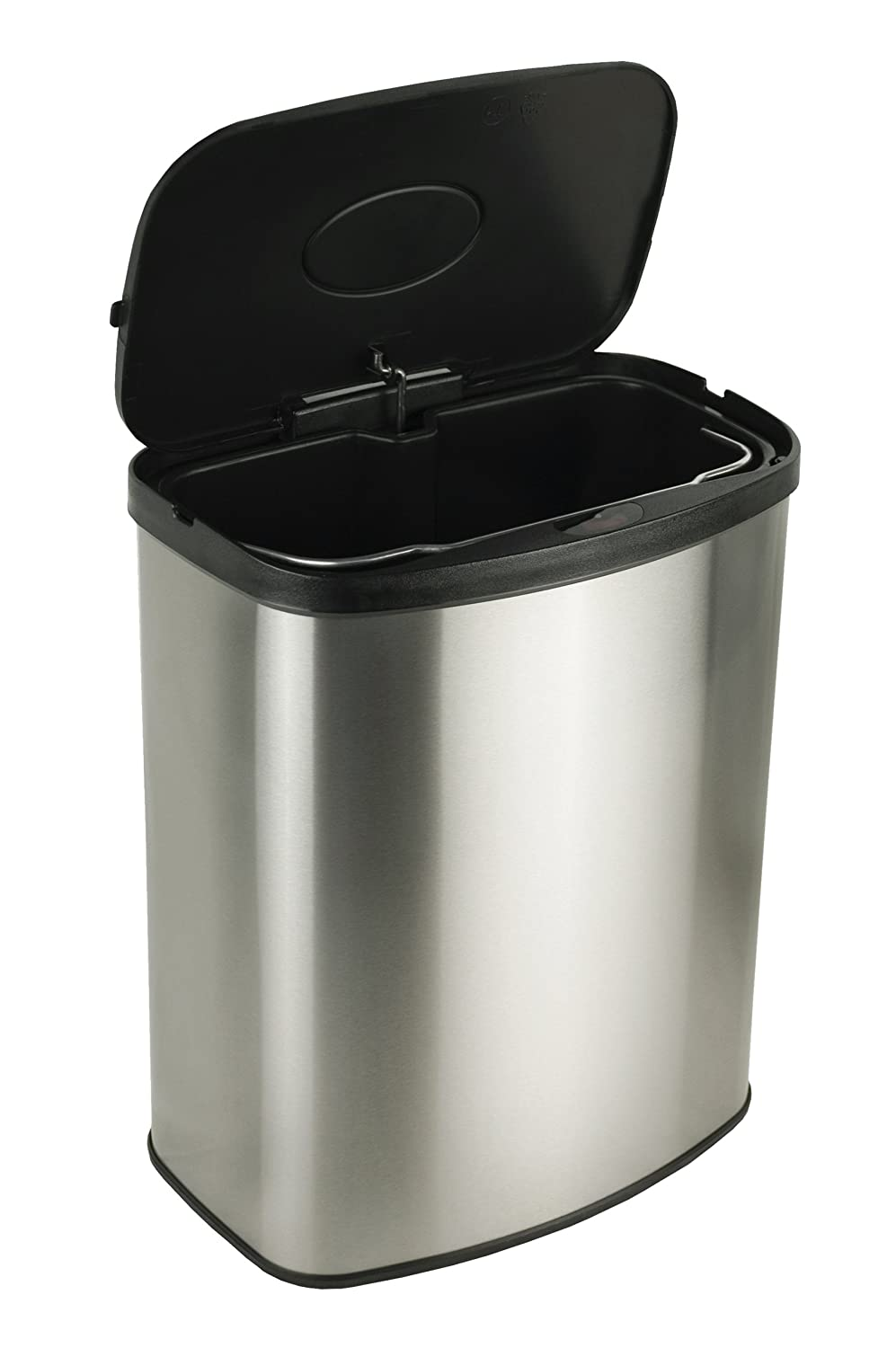 Kitchen Garbage Can Nine Stars Touchless Automatic Motion Sensor Trash Can Set Of 2