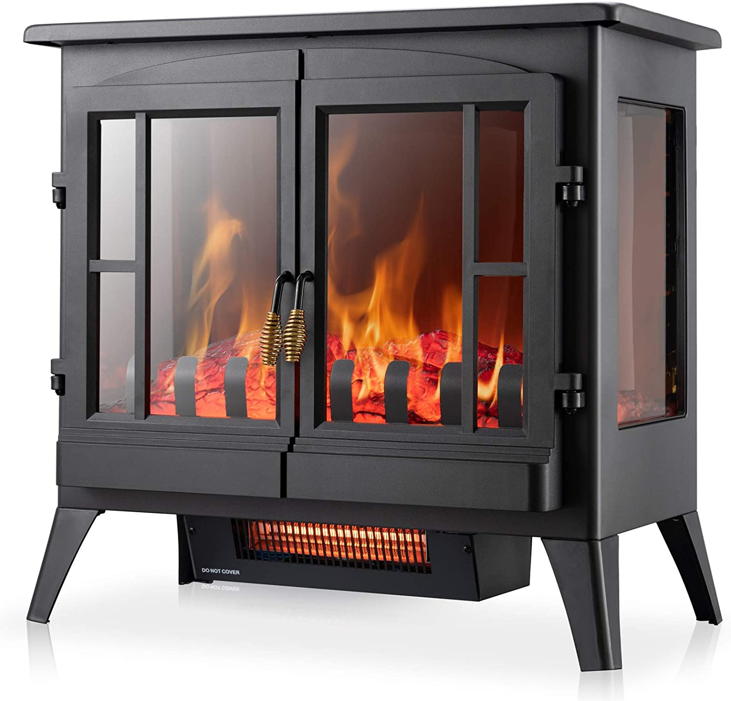 Xbeauty Electric Fireplace Stove Freestanding Fireplace Heater With Realistic Flame Indoor Electric Stove Heater Portable Infrared Thermostat Overheating Safety System 1000w 1500w 23 Inch Amazon Ca Home Kitchen