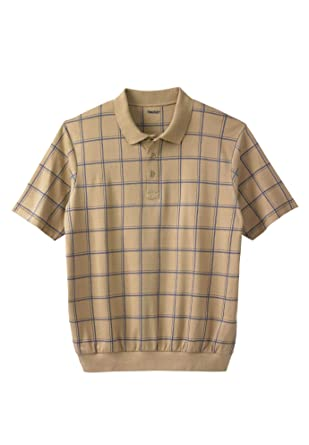 d2845320508 Amazon.com  KingSize Men s Big   Tall Soft Touch Printed Banded Bottom Polo  Shirt  Clothing