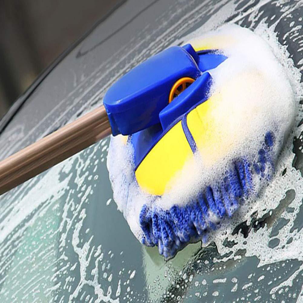 JINER Microfiber Wash Mop Long Retractable/Soft/Non-Slip/Exterior Interior Wash Cleaner Brush for Car Bike Boats or Home by JINER (Image #7)