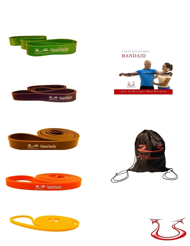 Devel Fitness Exercise Resistance Superbands Set Of 5 Elastic