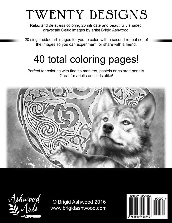 amazon com celtic magick grayscale coloring book 9781540458742