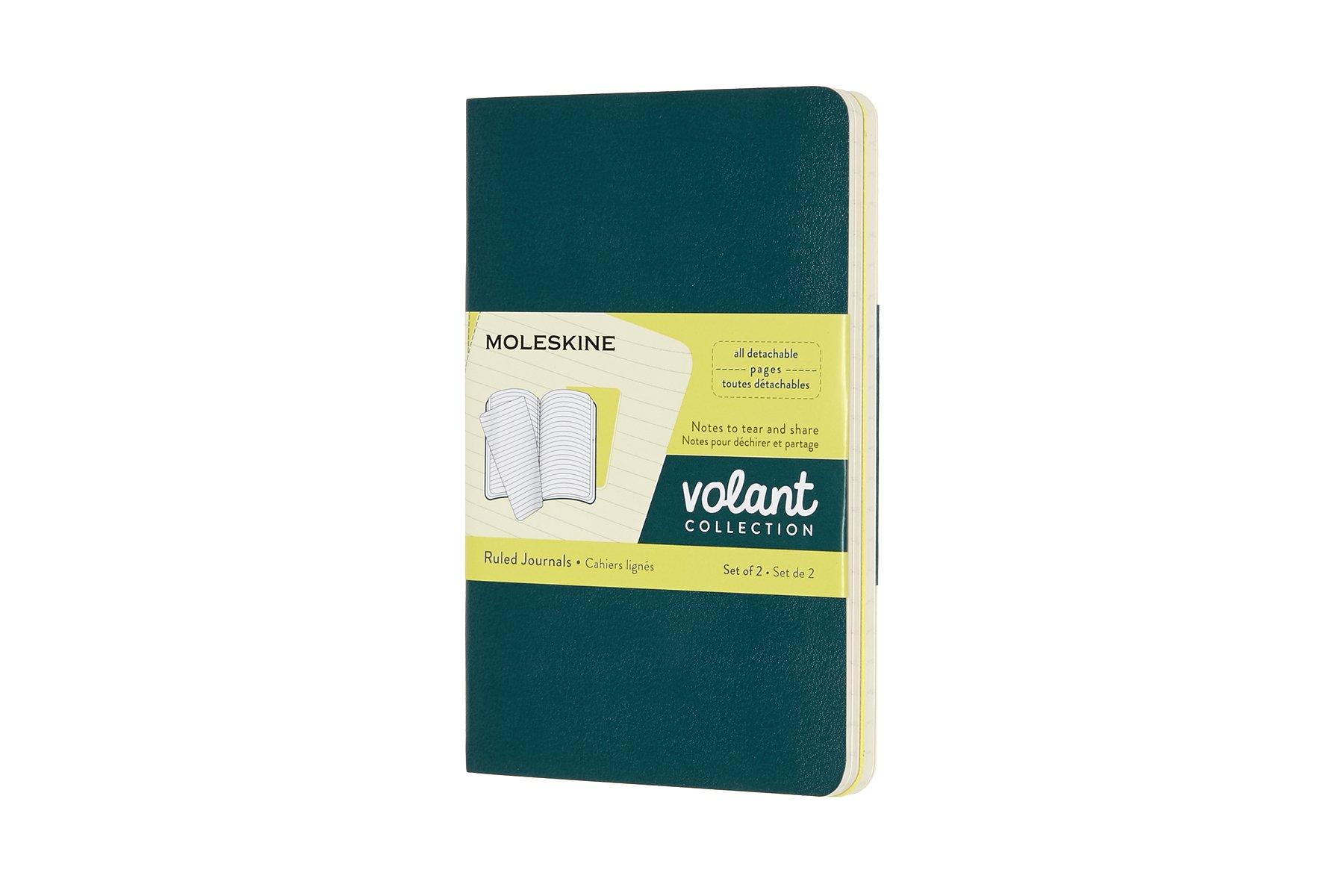 Moleskine Volant Soft Cover Journal, Set x 2, Ruled, Pocket