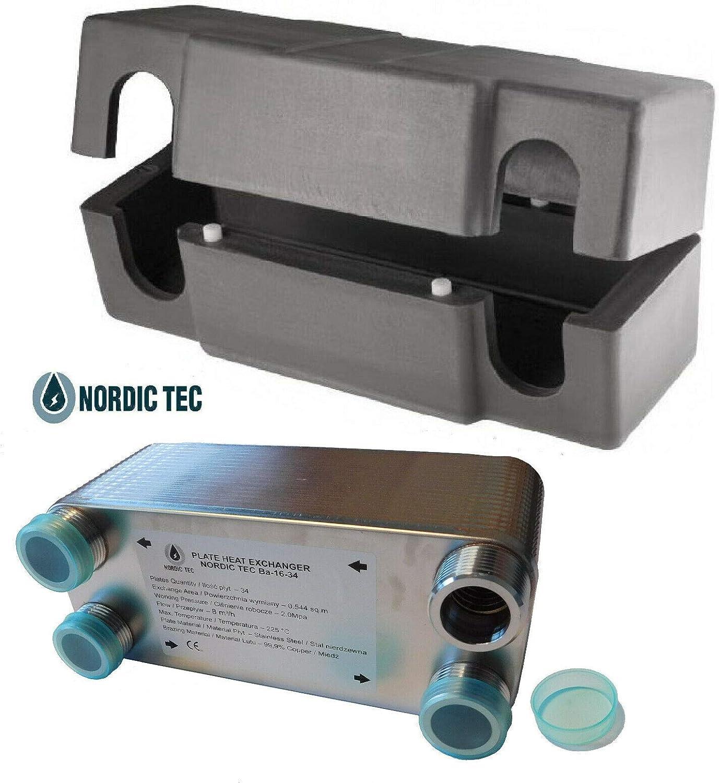 32 plaques /Échangeur de chaleur thermique /à plaque NORDIC TEC Ba-16-32 1 130kW