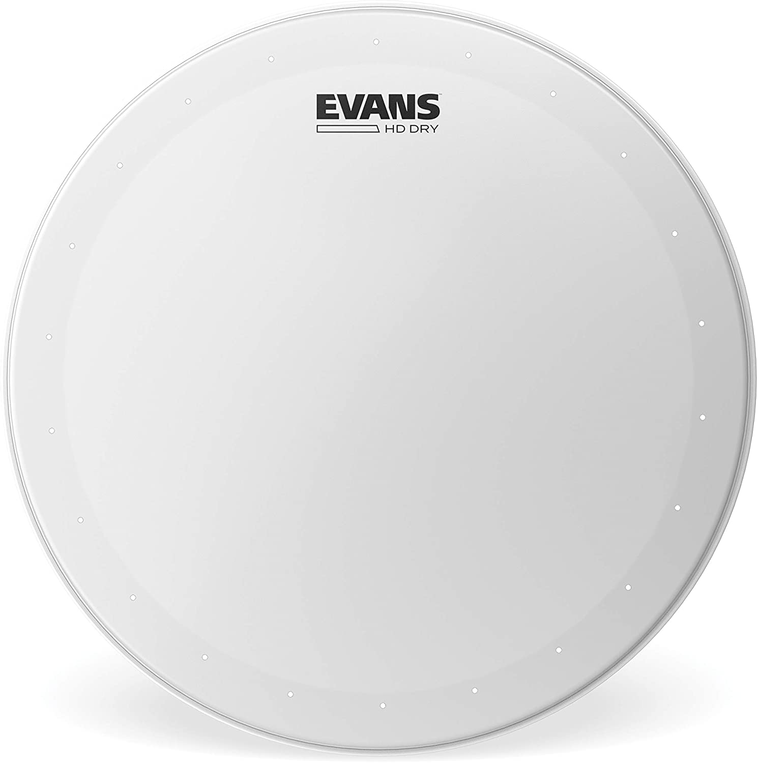 Evans Genera HD Dry Snare Drum Head, 13 (White)– Coated Drum Head Made Using Two Plies of Film –Overtone Ring Controls Sustain – Small Vent Holes Eliminate Stray Harmonics –Great for Live and Studio 71270iyX36L