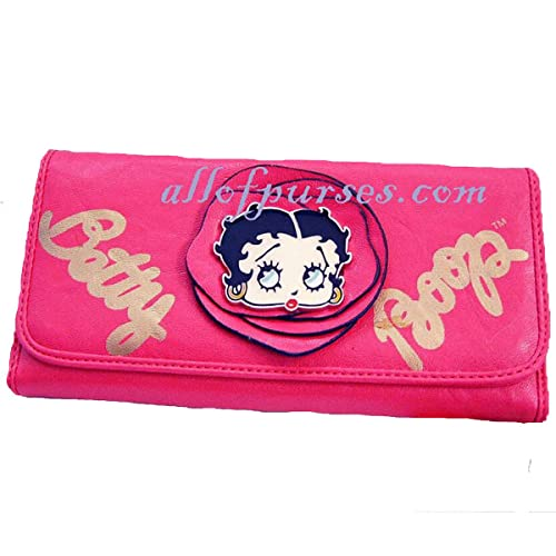 Betty Boop - billetera en L para chequera, costuras ...