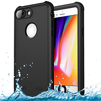 best website f33bb ad96c iPhone 7 Plus / 8 Plus Waterproof Case, Goton IP68 Certified Waterproof  Shockproof Snowproof Full Sealed Protective Cover Case for iPhone 7 Plus /  ...