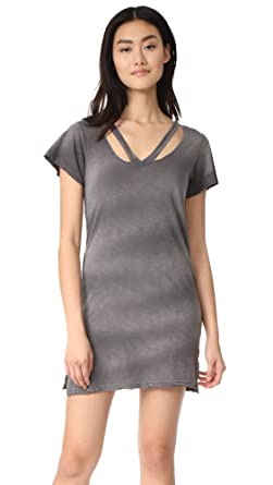 afe45f7804c Amazon.com  LNA Women s Double Fallon Tee Dress