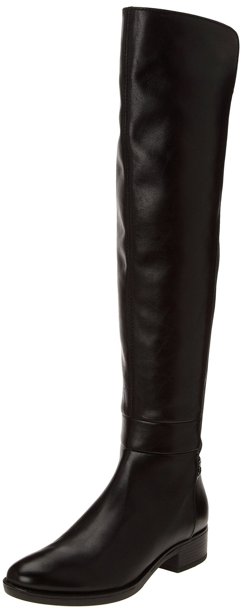 Geox Women's Felicity Over-The-Knee Riding Boot, Black, 35 BR/5 M US