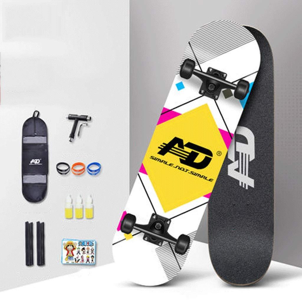 買い保障できる プロフェッショナルスケートボード初心者男の子と女の子青少年の子供二国間の傾斜ボードロード四輪スケートボード 格子 色) (色 : 色) B07KS77FZ3 (色 格子 格子, ハマナカチョウ:aa1d507d --- a0267596.xsph.ru