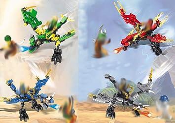 Modbrix 4 Pieza Ninja Dragón Ladrillos Juego Incluye 6 Mini ...