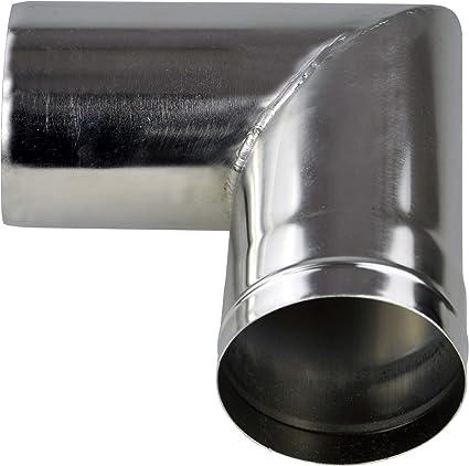 Winnerwell 90 Grad Rohrabschnitt 3,5 Zoll   Für große Winnerwell Zeltöfen mit Kaminrohr mit 3,5 Zoll Durchmesser