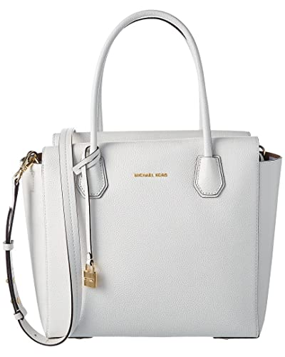Michael Kors Top Handle Handbag On Sale, Optic White, Leather, 2017, one size