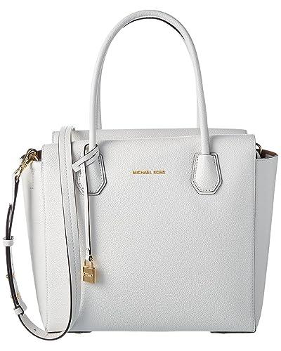 Top Handle Handbag On Sale, Optic White, Leather, 2017, one size Michael Kors