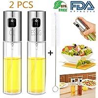 Nifogo Bottiglia di Olio - Olio e Aceto Dispenser Acciaio Inossidabile, Prova della Polvere EA Prova di Perdite con Beccuccio Oliera Bottiglia, Utensile da Cucina