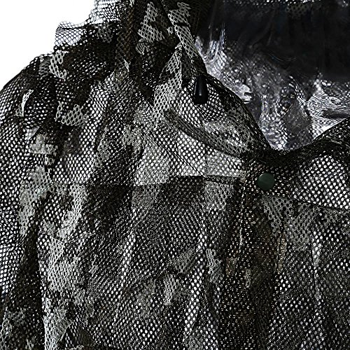 1 Set Outdoors Hunting Clothing Quick Dry Ultra Light Mesh Double Printed Camouflage Ghillie Leafy by The Single Mum (Image #2)