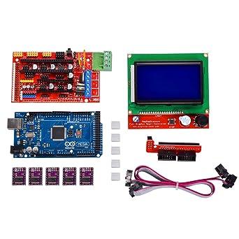 kingprint Mega 2560 R3 Junta + LCD12864 + RAMPAS 1,4 + 5 piezas ...