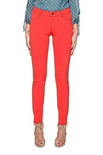 Pinko Mujer 1G12GD6219R23 Rojo Poliamida Pantalón