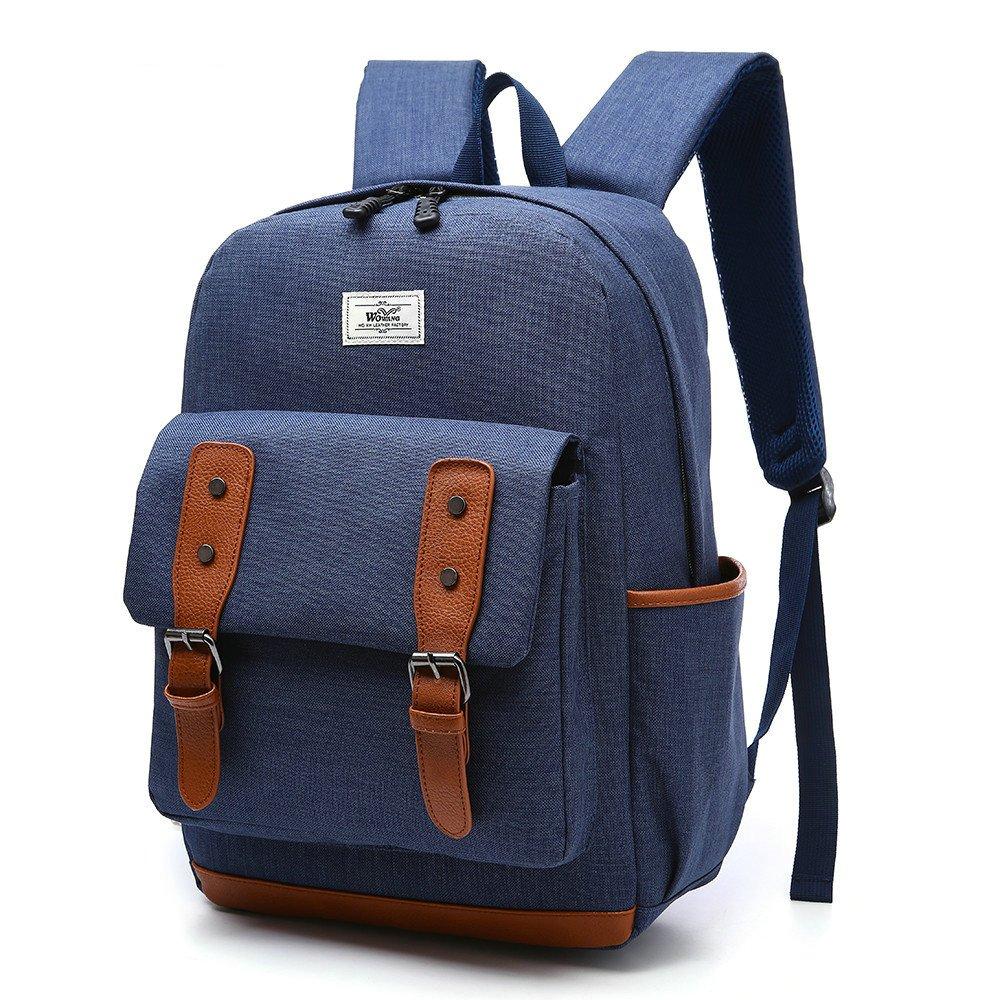 201 Bolso del ordenador portátil bolso ocasional al aire libre de la mochila de la mochila de la escuela de Oxford unisex ocasional 17inch(blue)