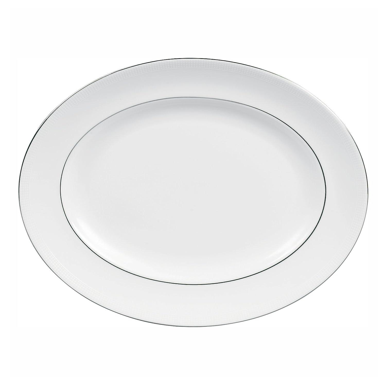 Vera Wang by Wedgwood Blanc Sur Blanc 15.25-Inch Oval Platter 5010833002