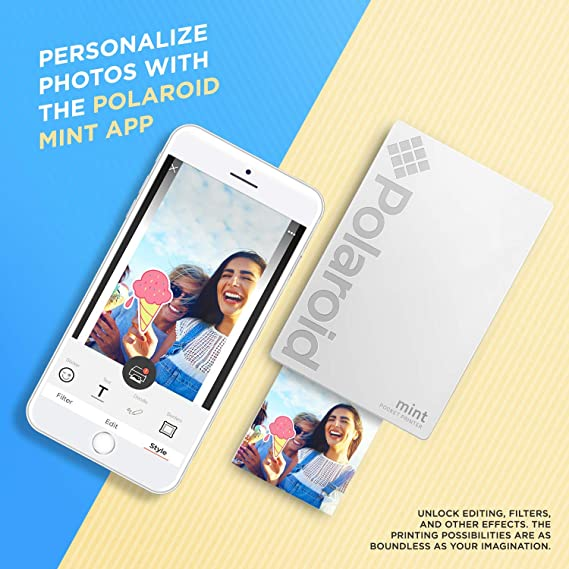 Polaroid Mint Impresora de Bolsillo Inalámbrica (Blanco) Kit con ...
