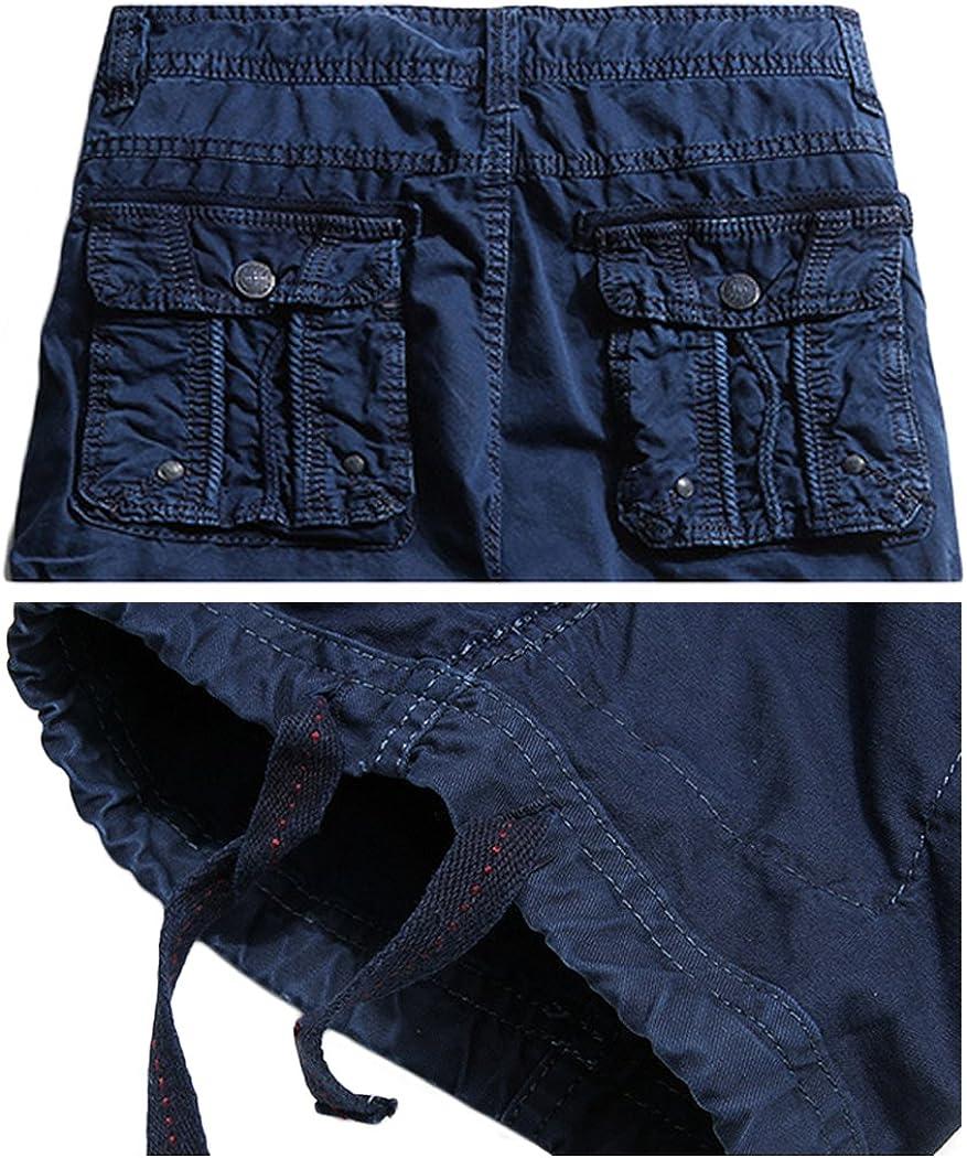 HOWON Mens Multi Pockets Leisure Cargo Shorts