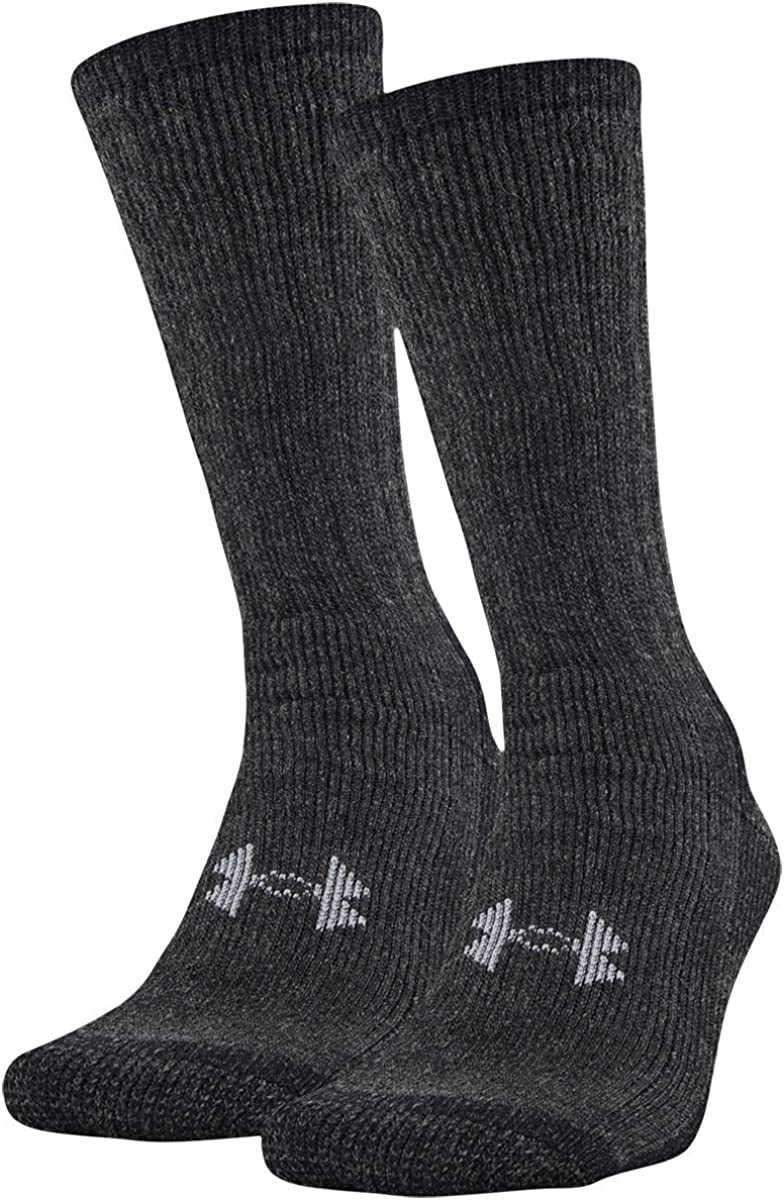 Under Armour Adult Hitch ColdGear Boot Socks, 2-pairs