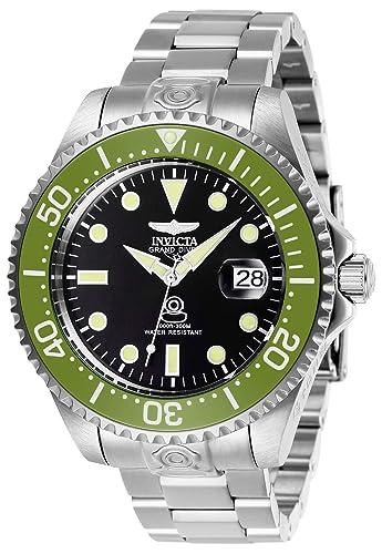 Invicta 27612 Pro Diver Reloj para Hombre acero inoxidable Automático Esfera negro: Amazon.es: Relojes