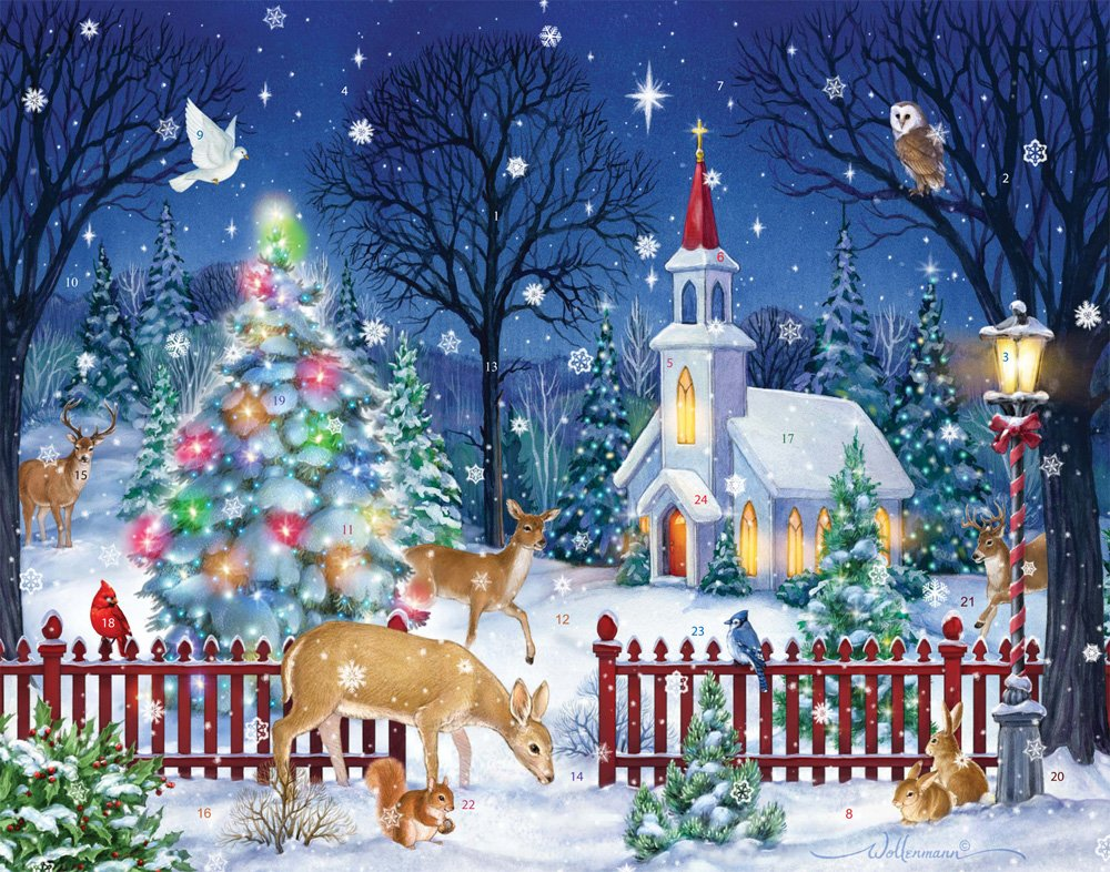 Peaceful Night Advent Calendar (Countdown to Christmas) Vermont Christmas Company