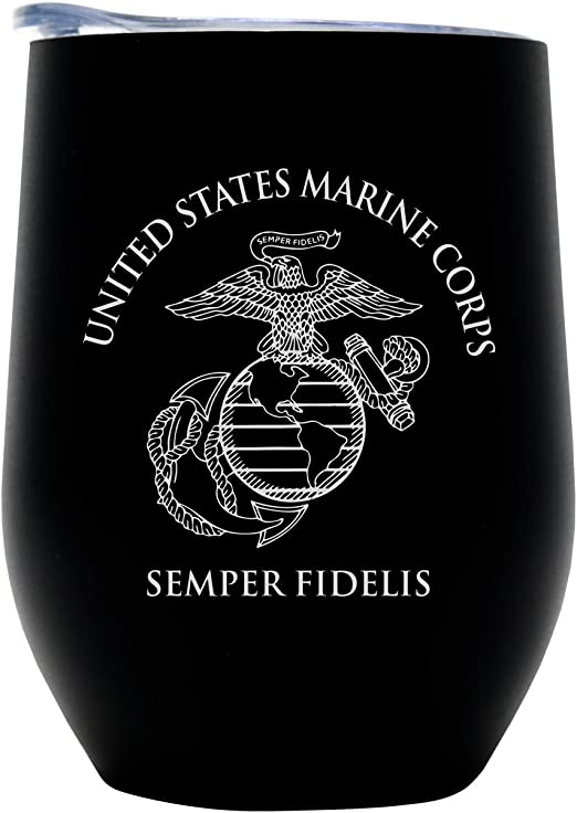 U.S Marines EGA Thermal Insulated 16oz Tumbler with Lid
