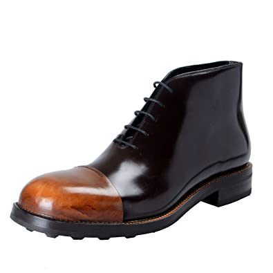 6d71221e17 Amazon.com | Prada Men's Brown Polished Leather Ankle Boots Shoes US ...