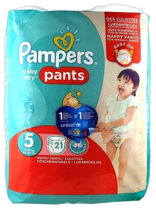 PAMPERS Pañales Baby-Dry, tamaño 5 (Junior), 12 – 18 kg