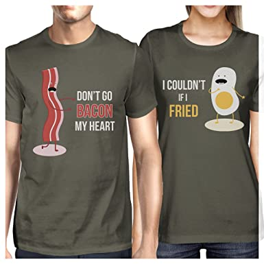 cfc905cb 365 Printing Bacon and Egg Couples Matching T-Shirts Funny Grandparents  Gifts: Amazon.co.uk: Clothing