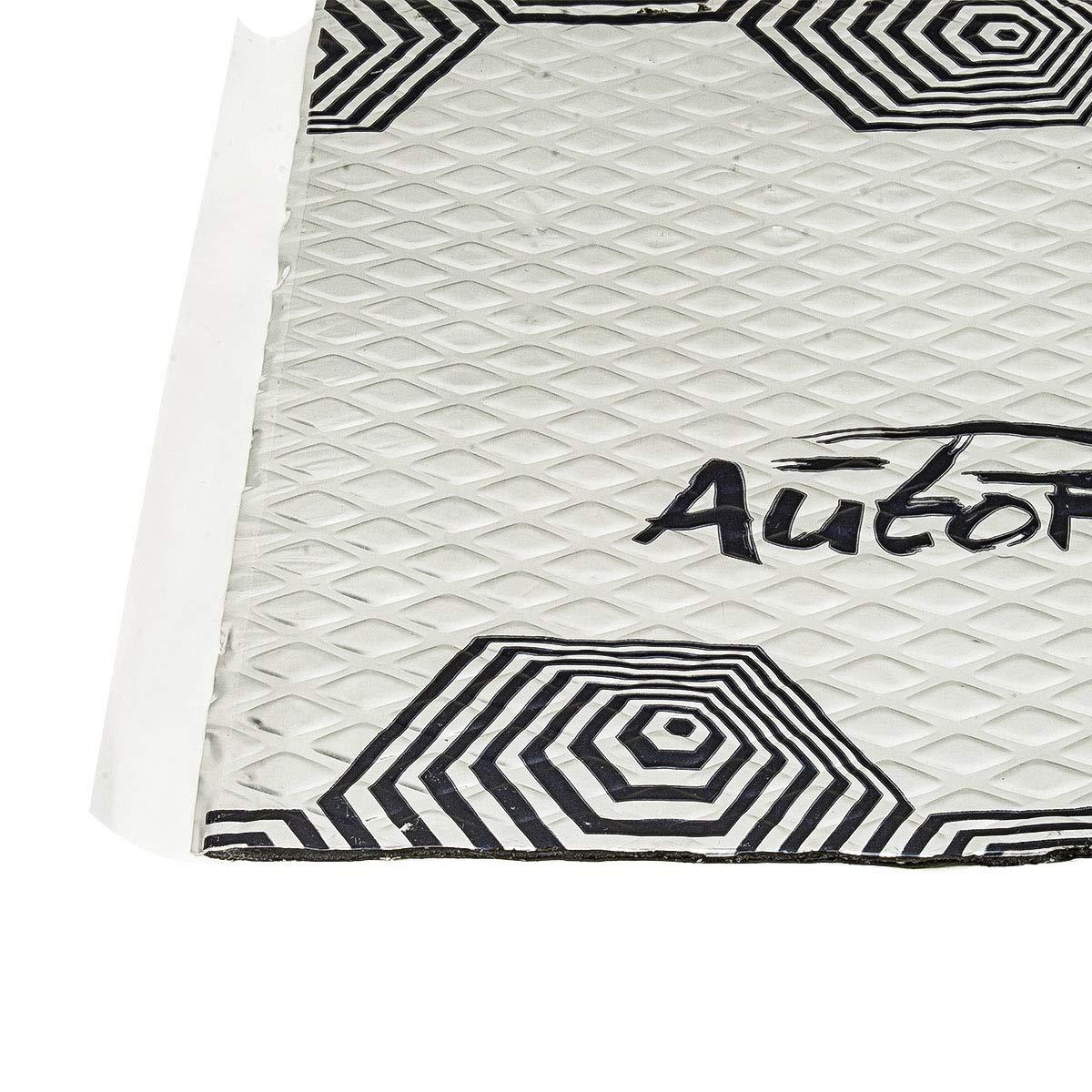 butilo de Aluminio, antivibraci/ón, para Coche y Barco Aislamiento ac/ústico para 4 Puertas tomzz Audio  VDM16-4