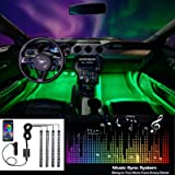 EXPERTBEAM Car Interior Lights, Truck LED Interior Lighting Kits, 8 colors 4 pcs 48 LED Multi Color Car LED Strip Lights…