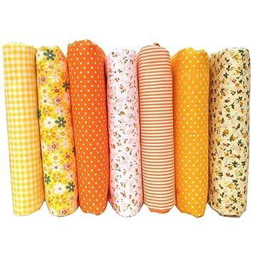 Chen Rui (TM) 7 Unids / Set Telas de Patchwork DIY para Coser el Paño de Acolchado de Bebé Costura Niños Ropa de Cama Textil: Amazon.es: Hogar