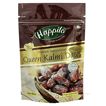 Happilo Premium International Queen Kalmi Dates, 200g (Pack of 5)