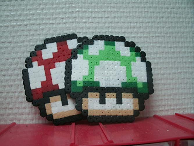 Sprite Of A Mushroom Mario Nintendo Hama Beads Pixel