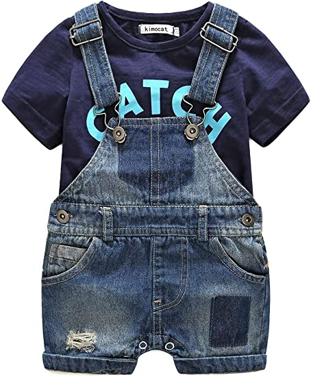 Toddler Baby Kids Clothes Denim Pants Jeans Children Boys Overalls